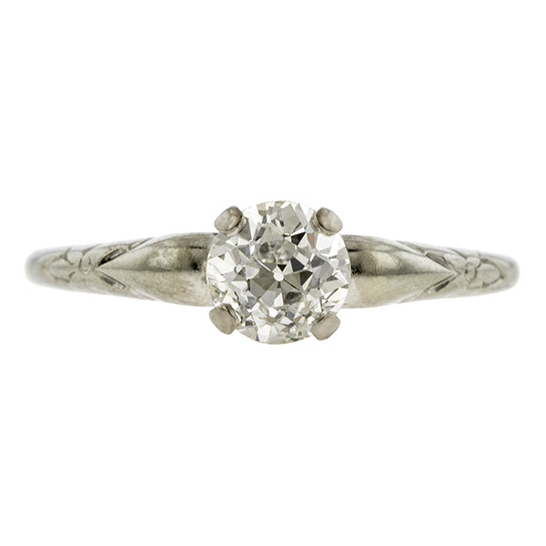 Art Deco Diamond Solitaire Engagement Ring, Old Euro 0.75ct:: Doyle & Doyle