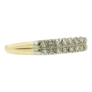 Vintage Diamond Wedding Band Ring, Gold, sold by Doyle & Doyle vintage and antique jewelry boutique.