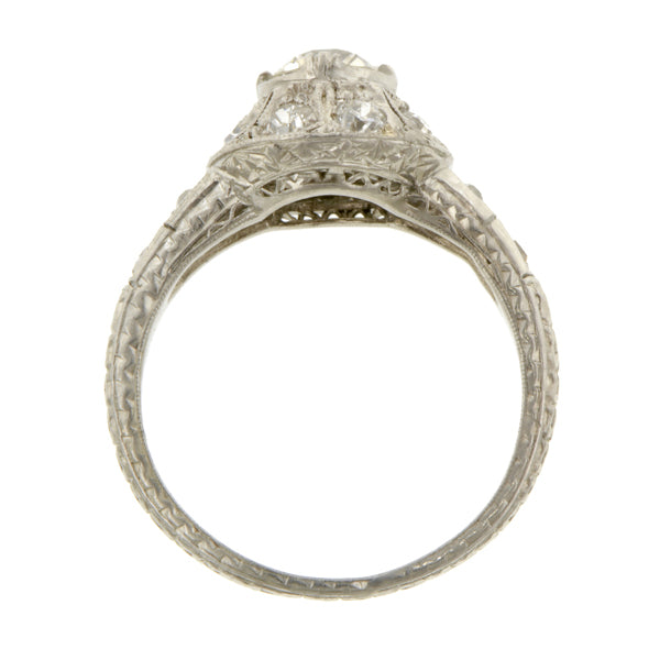 Edwardian Engagement Ring, Old Euro 0.61ct