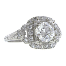 Art Deco Diamond Engagment Ring, RBC 1.21ct:: Doyle & Doyle