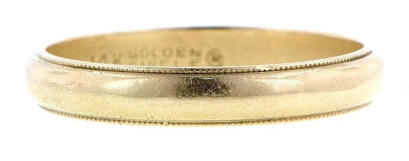Half Round Wedding Band with Millegrained Edge :: Doyle & Doyle