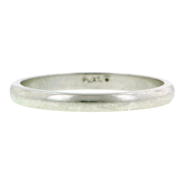 Estate Wedding Band Ring, Platinum, sold by Doyle & Doyle vintage and antique jewelry boutique.