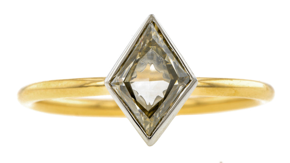 Lozenge Solitaire Engagement Ring, 0.91ct- Heirloom by Doyle & Doyle