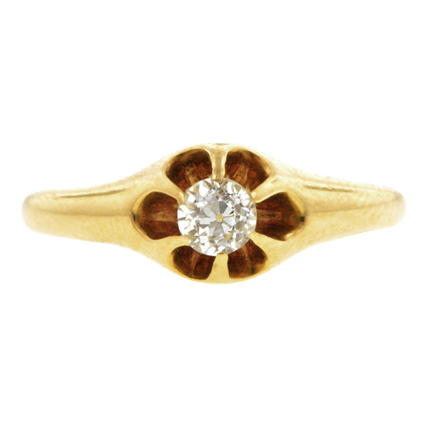 Victorian Diamond Engagement Ring, Old Euro 0.27ct::