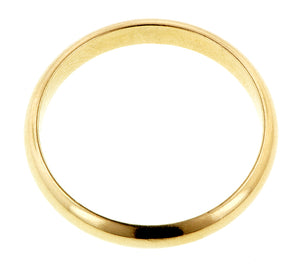 Half Round Gold Wedding Band