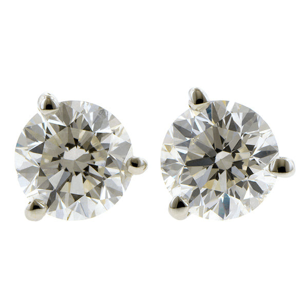 Diamond Stud Earrings, RBC 2ctw