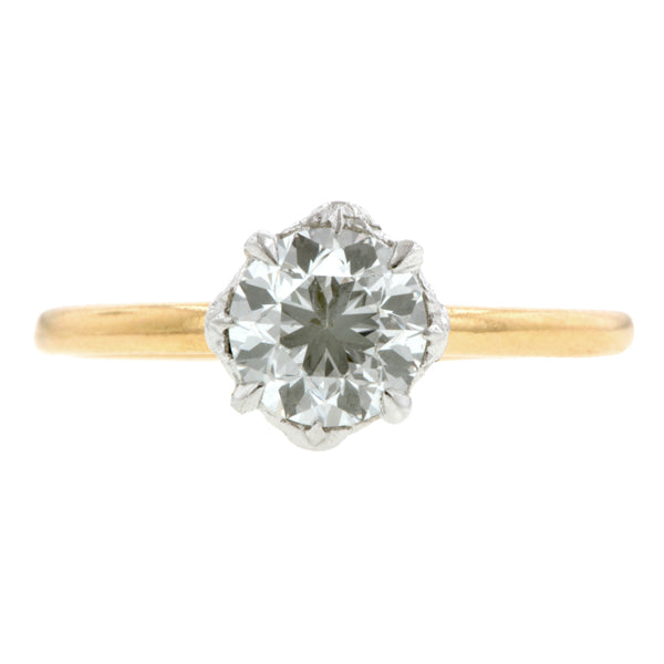 North Star Engagement Ring, Old Euro 1.04ct., West 13th Collection- sold by Doyle & Doyle an antique & vintage jewelry store.