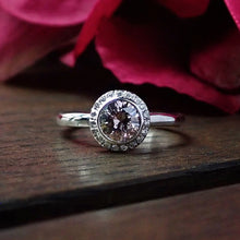 Purplish Pink Diamond Engagement Ring-Heirloom by Doyle & Doyle, RBC 0.66ct