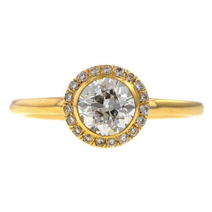 Diamond Frame Engagement Ring-Heirloom by Doyle & Doyle, Old Euro 0.75ct.