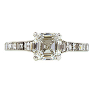 Estate Tiffany & Co. Diamond Engagement Ring, Asscher 1.52ct:: Doyle & Doyle