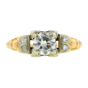 Vintage Engagement Ring, TRB Diamond 0.51ct. sold by Doyle & Doyle an antique and vintage jewelry store.