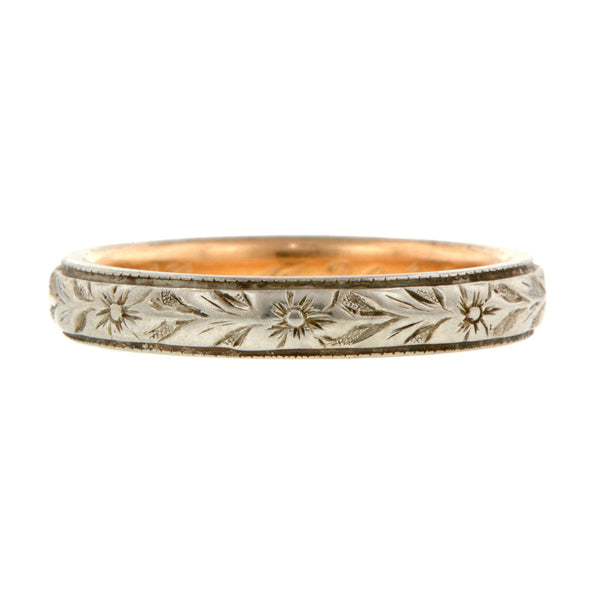 Edwardian Patterned Wedding Band:: Doyle & Doyle