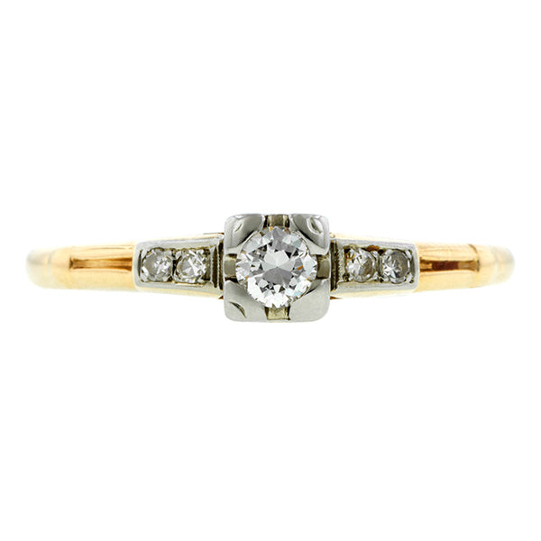 Vintage Diamond Engagement Ring, TRB 0.10ct:: Doyle & Doyle