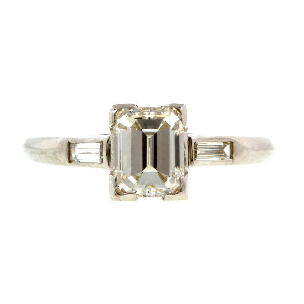 Vintage Engagement Ring, Emerald Cut 1.00ct