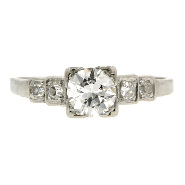 Vintage Engagement Ring, TRB 0.85ct