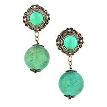 Vintage Turquoise Drop Earrings::Doyle & Doyle