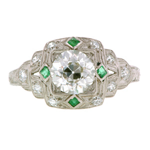Art Deco Engagement Ring, Old Euro 1.00ct:: Doyle & Doyle