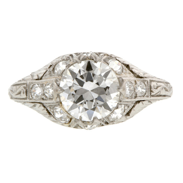 Art Deco Engagement Ring, RBC 1.36ct:: Doyle & Doyle
