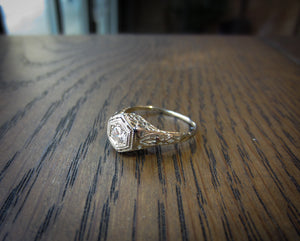 Vintage Engagement Ring, RBC 0.20ct :: Doyle & Doyle
