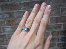 Vintage Diamond & Emerald Engagement Ring, Hexagonal 2.19ct :: Doyle & Doyle