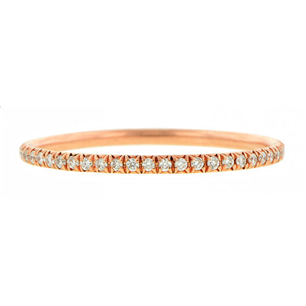 Diamond Set Wire Eternity Band Ring, Rose Gold sold by Doyle & Doyle vintage and antique jewelry boutique