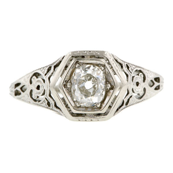 Art Deco Engagement Ring, Old Mine 0.40 :: Doyle & Doyle