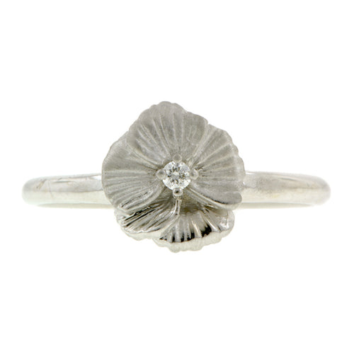 Diamond Pansy Ring- Heirloom by Doyle & Doyle