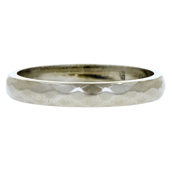 Vintage Faceted Wedding Band:: Doyle & Doyle