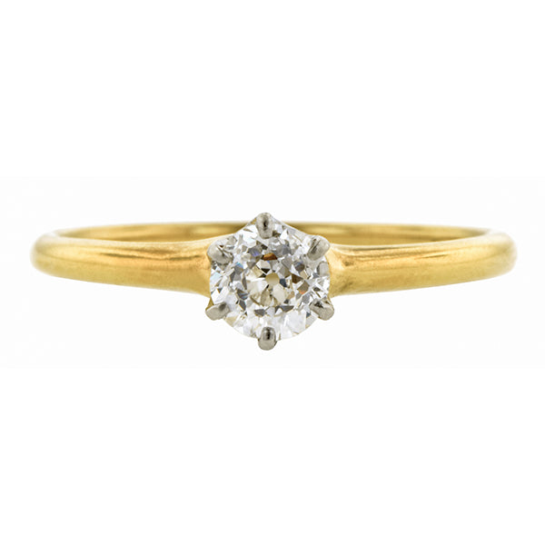 Victorian Diamond Solitaire Ring, Old Mine 0.40ct:: Doyle & Doyle