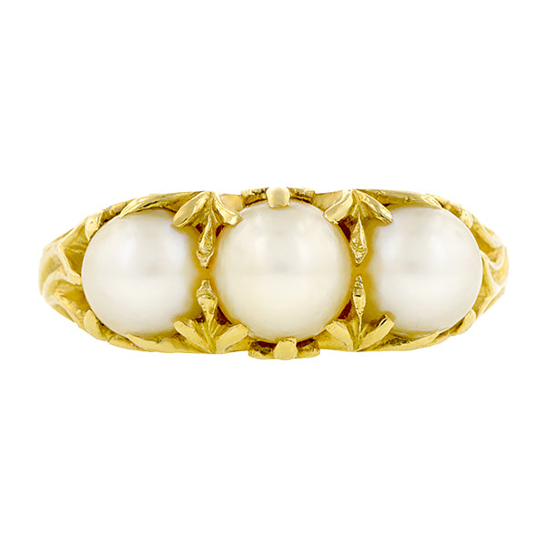 Antique Three Pearl Ring :: Doyle & Doyle
