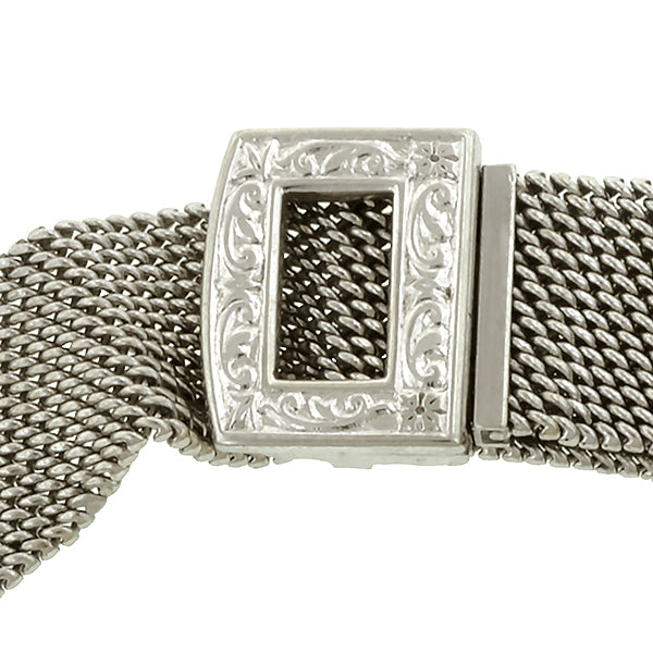 Art Deco Diamond Baguette Bracelet