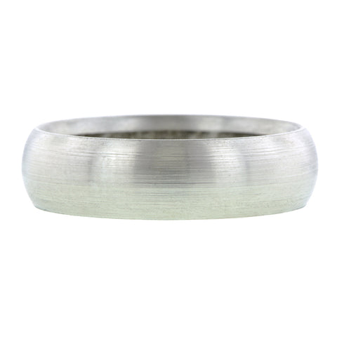Comfort Fit Wedding Band Ring, 6mm Platinum
