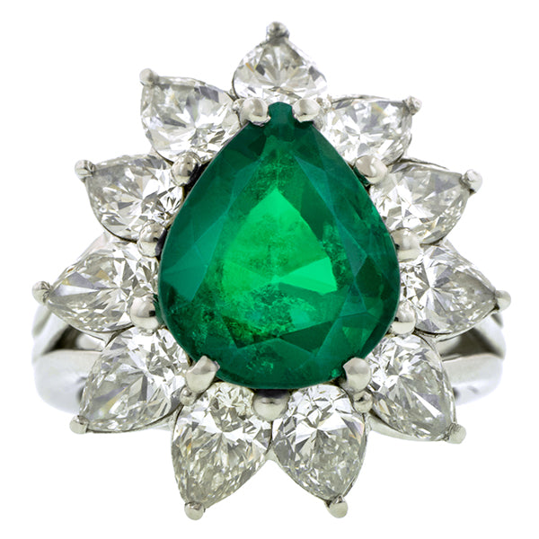 Vintage Colombian Emerald & Diamond Ring:: Doyle & Doyle