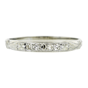 Art Deco Diamond Wedding Band, Single Cut 0.05ctw:: Doyle & Doyle