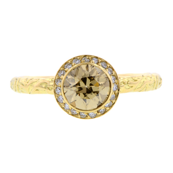 Diamond Frame Engagement Ring, RBC 0.72ct- Heirloom by Doyle & Doyle::