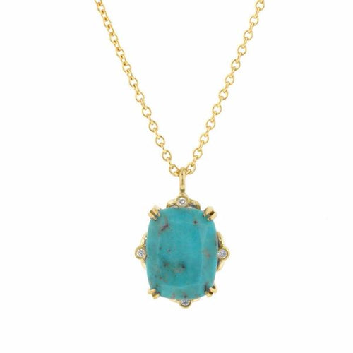 Cushion Gemstone & Diamond Necklace- Heirloom by Doyle & Doyle