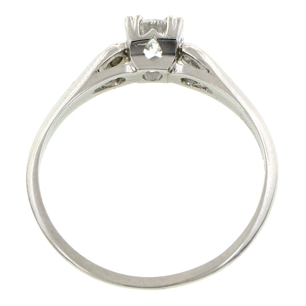 Estate Engagement Ring, RBC 0.26ct