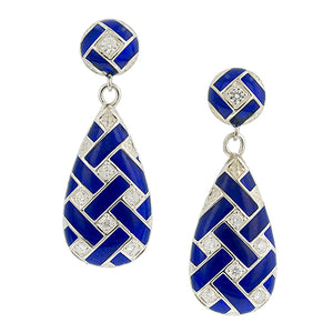 Interwoven Diamond Drop Earrings- Heirloom by Doyle & Doyle