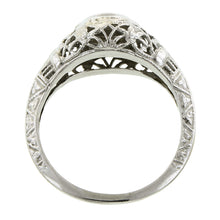Art Deco Diamond Filigree Ring, Old Mine 0.05ct