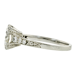 Edwardian Engagement Ring, TRB Diamond 2.14ct., sold by Doyle & Doyle an antique and vintage jewelry store.