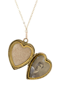 Antique Ruby & Pearl Heart Locket Doyle & Doyle