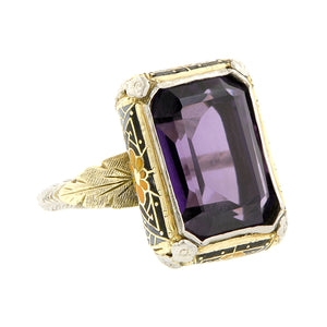 Art Deco Amethyst Ring::