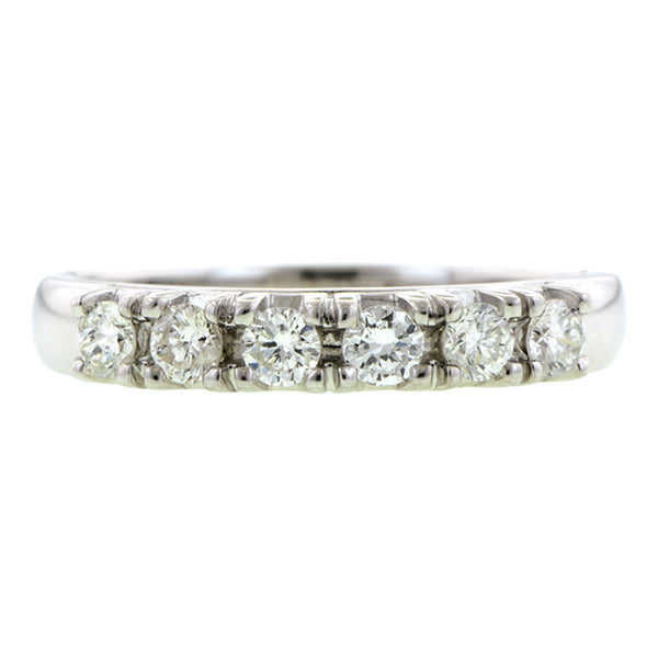 Vintage Diamond Wedding Band Ring
