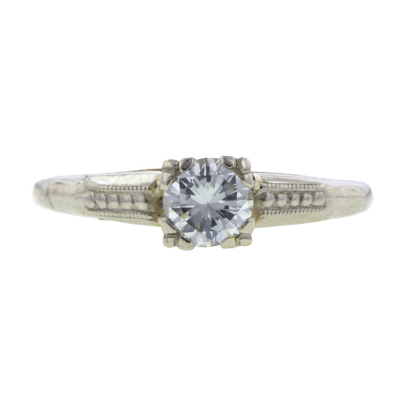Vintage Diamond Engagement Ring, RBC 0.43ct:: Doyle & Doyle