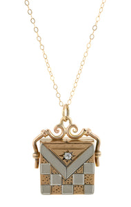 Victorian Diamond Square Locket