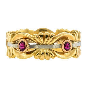 Retro Ruby Ring
