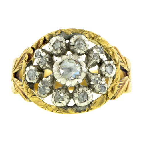 Georgian Rose Cut Diamond Cluster Ring :: Doyle & Doyle