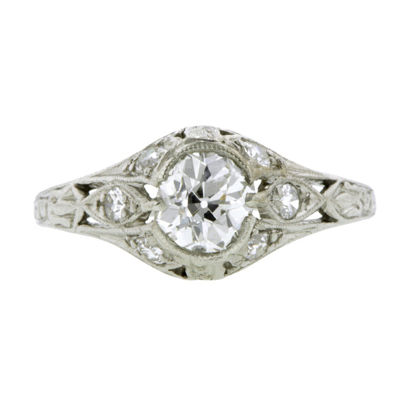Edwardian Engagement Ring, Old Mine 0.61ct