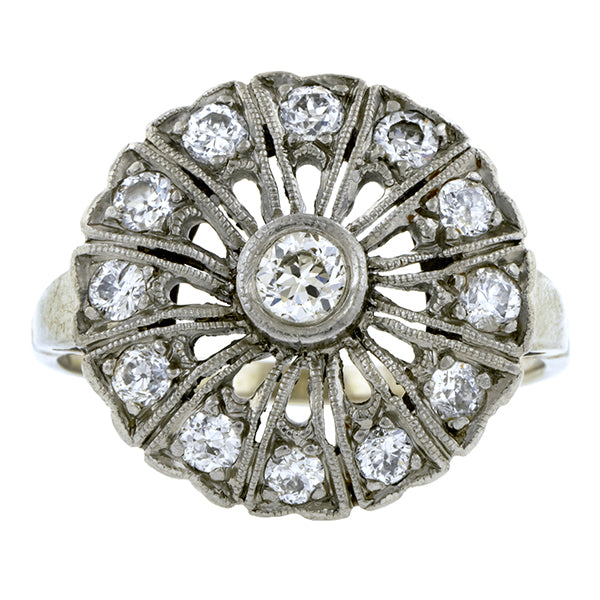 Vintage Diamond Cluster Ring:: Doyle & Doyle