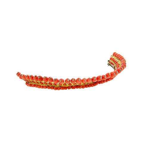 Antique French Empire Coral Tiara::Doyle & Doyle